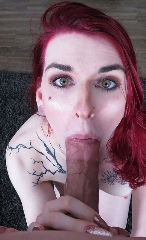 Aimee Fawx Sultry Trans Beauty Swallows Cock (6 April 2020)