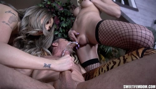 Casey Kisses, Kat Dior, Lance Hart - Butt Fucked And Drained By Casey And Kat [HD/720p]