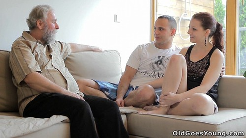 Ilona - Beautiful Girl Gets Fucked By A Horny Old Man, Her Boyfriend Comes And Watches [FullHD/1080p]