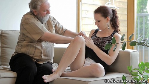 Ilona - Beautiful Girl Gets Fucked By A Horny Old Man, Her Boyfriend Comes And Watches [HD/720p]