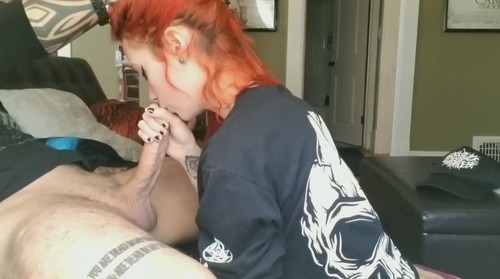 Redhead Suck And Rides Cock Till She Gets A Cum Load [HD]