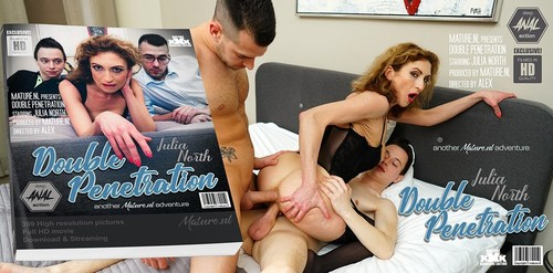 Julia North 39 - Horny Mature Julia North Loves A Threesome With Some Double Penetration [FullHD/1080p]