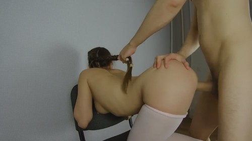 Girl With Long Pigtails Banged From Behind [HD]
