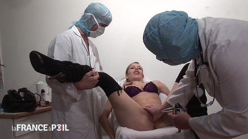 Tania, At The Gyneco, Gets Anally Washed And Fucked In Threesome [HD]