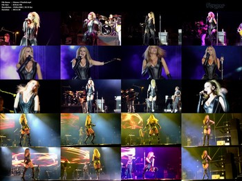 Edurne Video De Cuero Minishorts Botas Altas En Concierto Painkiller Tour Madrid 1