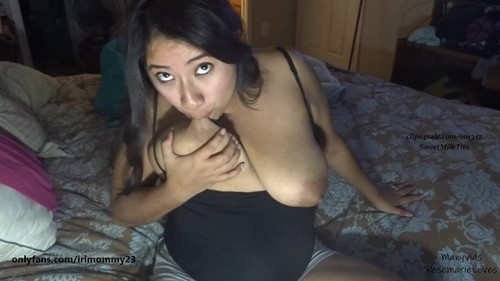 Self Sucking My Milky Lactating Tits Let Down Milk Dripping [FullHD]