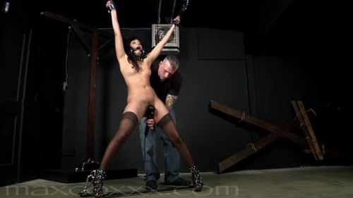 Slut Punished for Wearing Sheer Thigh High Stockings and Sexy High Heels Bitch