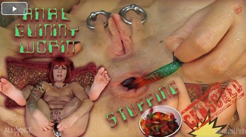 """Abigail Dupree in """"Anal Gummy Worm Stuffing Censored"""" [HD]"""