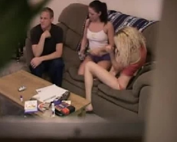 Amateurs - Amateur Threesome On Hidden Cam (SD)