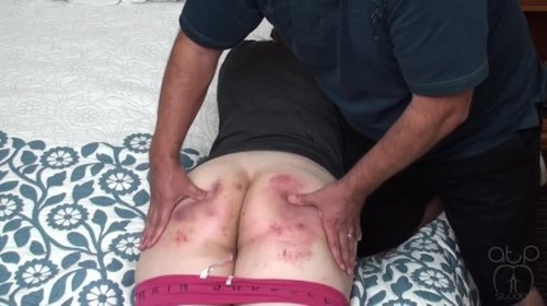 Bare Bruised Bouncing Bottom - Strictly Spanking, BDSM, Pain Video