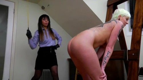 3 Girls Versus The Singapore Prison Cane - Strictly Spanking, BDSM, Pain Video
