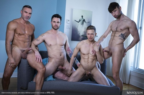 Masqulin - The April Fool: Beau Bridge, Drew Dixon, Ethan Chase, Manuel Skye Bareback