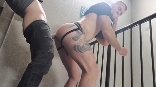 RawFuckClub - Jack Vidra & Dillon Anderson Stairwell Fuck Bareback