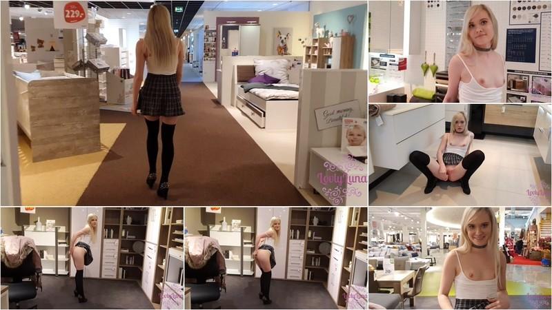 LovlyLuna - Naughty Girl in Furniture Market [UltraHD/4K 2160P]