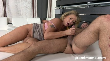 Rough Dirty Fuck For Blonde Grandma GrandMams