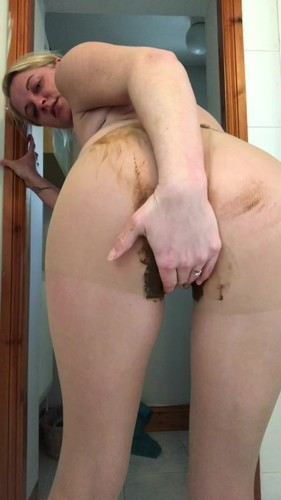 Jojo3767 - Tight poop and smear - Solo Scat, Defecation, Shiting Girl, Dirty Ass