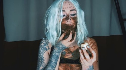 DirtyBetty - Monsta girl ate own shit with ur eyes - Solo Scat, Defecation, Shit