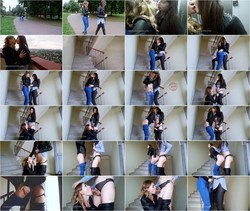 [ManyVids.com] VicaTS, Milla - Love On The Stair (Download: Flashbit   Cloudfile)