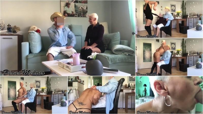 DianaMelano - XL Schwanz Eskalation mit Sperma Titten Fantreffen Strippen, Blasen [FullHD 1080P]
