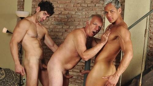 Older4Me - Bound Daddy Sex: Gerardo Mass, Hassan & Victorino Bareback