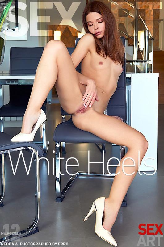 Nedda A - White Heels (2020-07-16)