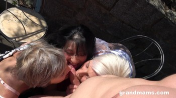 Three Rich Ladies Craving For Cum GrandMams