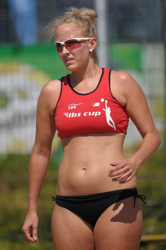 blonde hottie in sexy beach volleyball bikini
