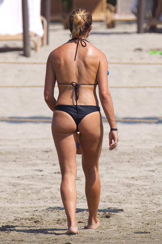 beach tennis girls in kinky bikini
