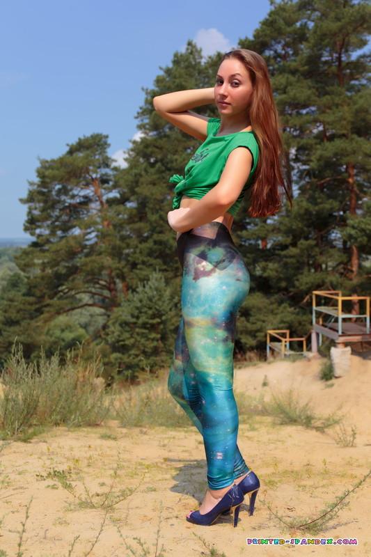 handsome lady Katya M in tight lycra pants