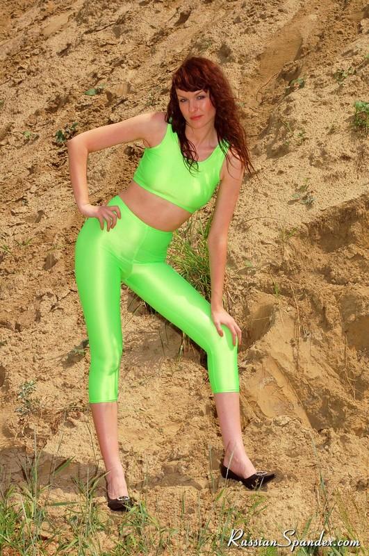hot slavic babe in green sportswear