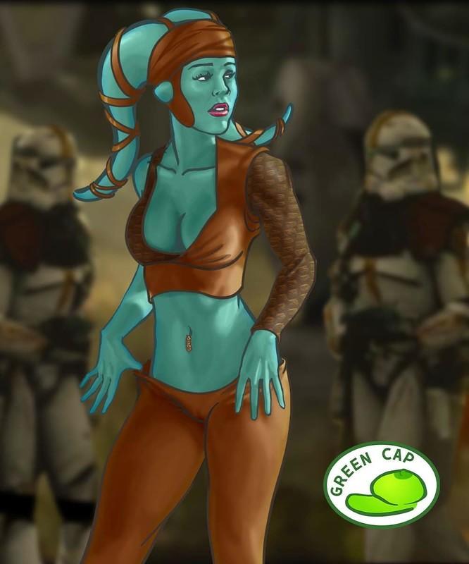 star wars green cap