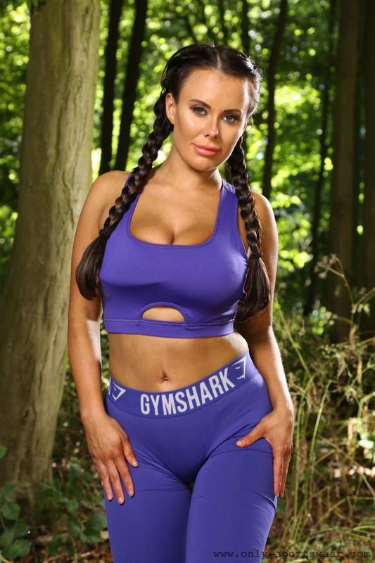 hiker babe Layla B in kinky gymshark sportswear