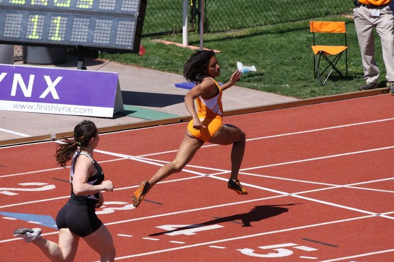 track & field women in kinky sportswear