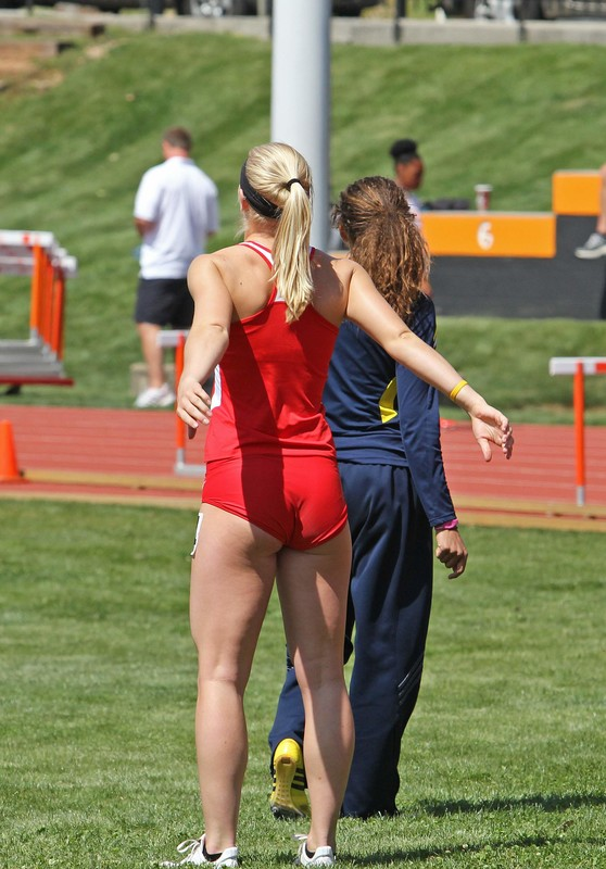 track & field girls in candid spandex