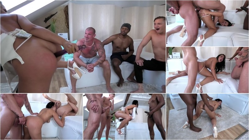 Dancer Jennifer Mendez anal fucked hard by 3 Guys with DP, Ass to mouth, Rimming NF038 [HD 720P]