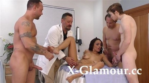 Julie Kay - Ebony Beauty Gets Triple-Teamed At The Hospital (SD)