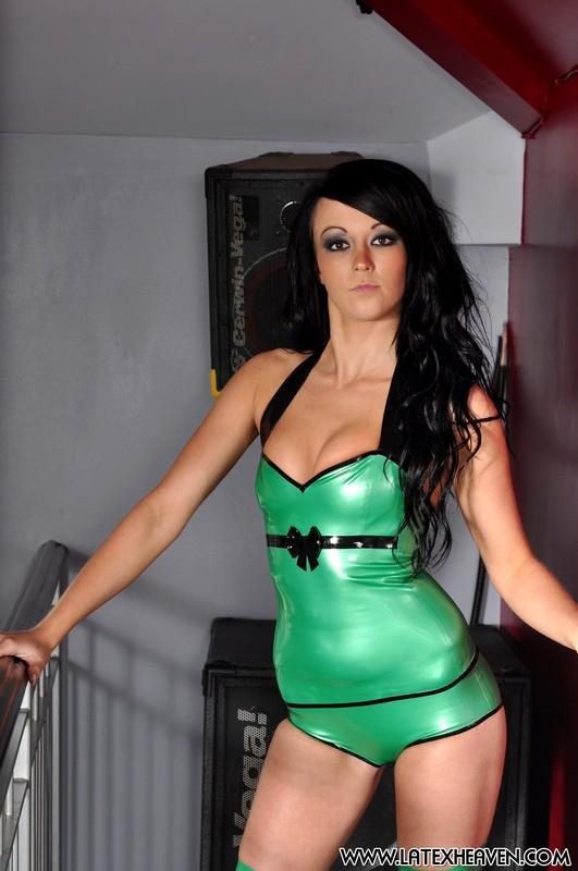 dominatrix Sarah kinky green latex album