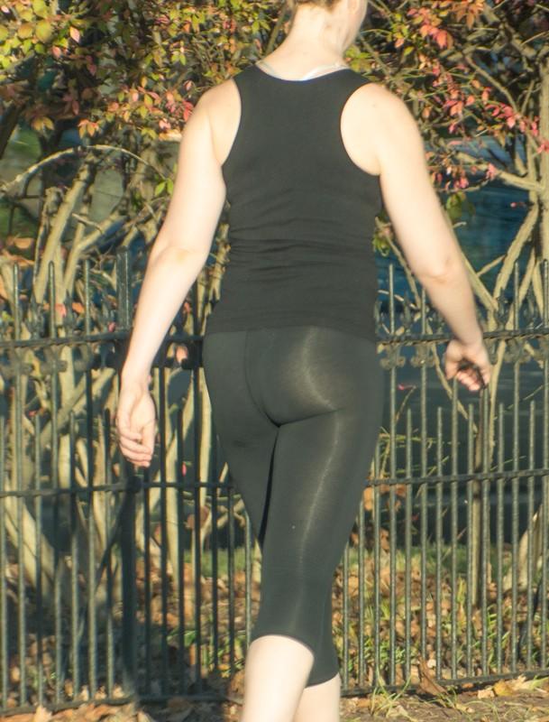 beautiful college town girls in leggings & spandex