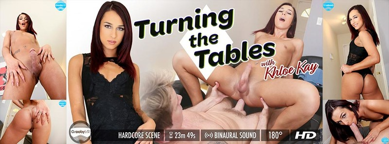 [GroobyVR] Khloe Kay - Turning The Tables [Virtual Reality, 4K, VR, 1920p]