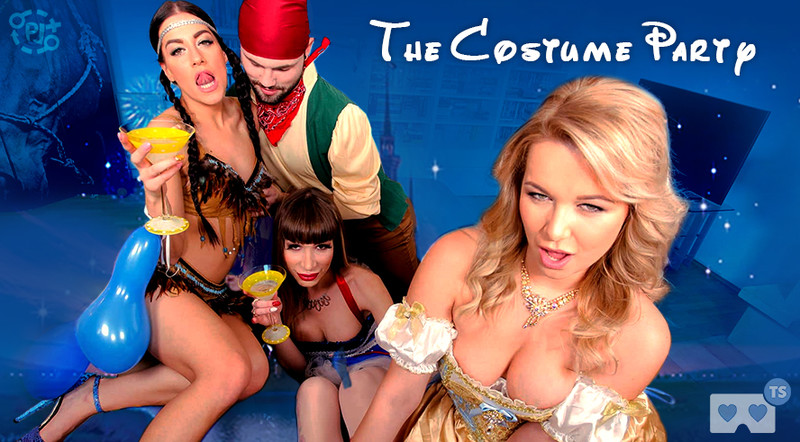 [TSVirtualLovers] Nikky Dream, Eveline Dellai & Ramona Swarovski - The Costume Party [Virtual Rea...