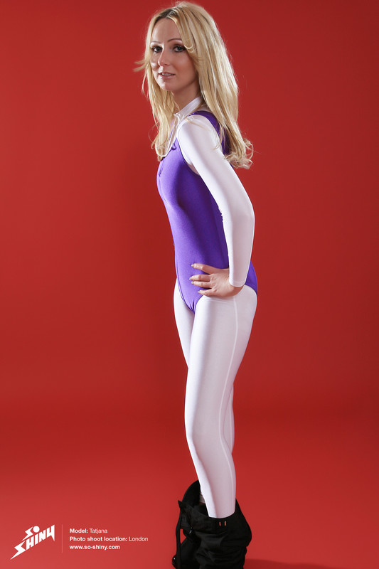gorgeous model Tatjana in catsuit & leotards