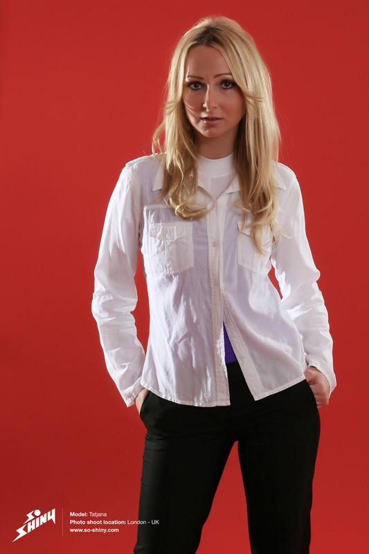 gorgeous model Tatjana in catsuit & leotards
