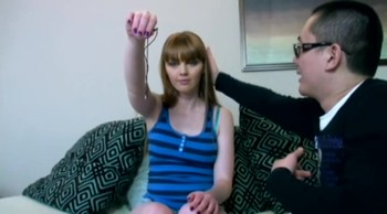Taboo scene with redhead stepsister